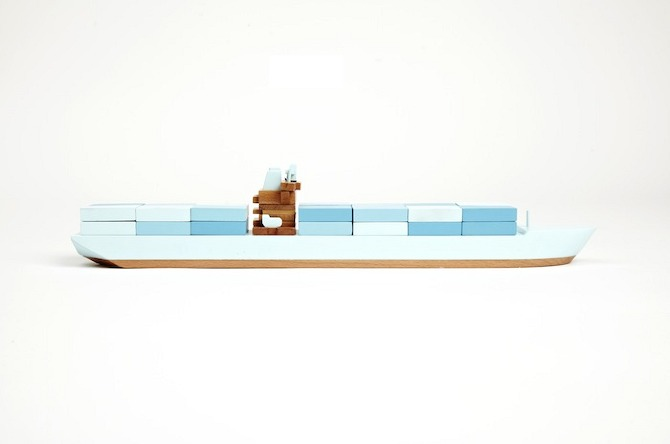 ppfxtrt emma%20maersk%20blue%20side Hand crafted wood toys by Papa Foxtrot on thisispaper.com